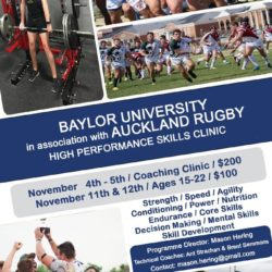 Baylor Rugby Set to Host Auckland Rugby Academy for Coaching and Player Clinics